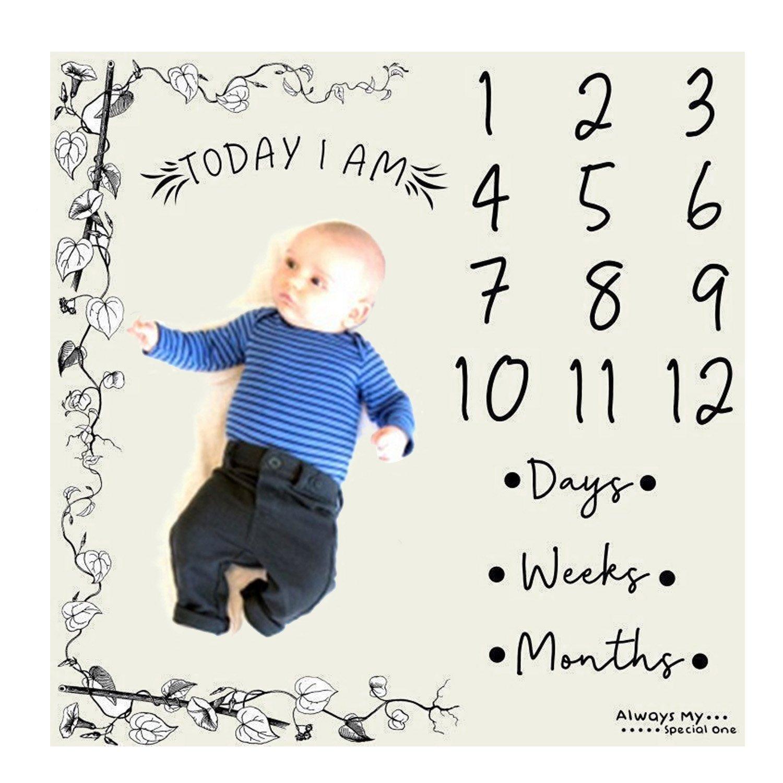 Personalizada recién nacido bebé mensual pañales hito manta para fotografía Baby ducha regalo foto props telón de fondo C