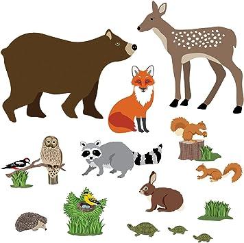 2 x Vinyle Autocollants 10 cm-Woodland Animaux Tribal Bear Fox Cool Cadeau #8195