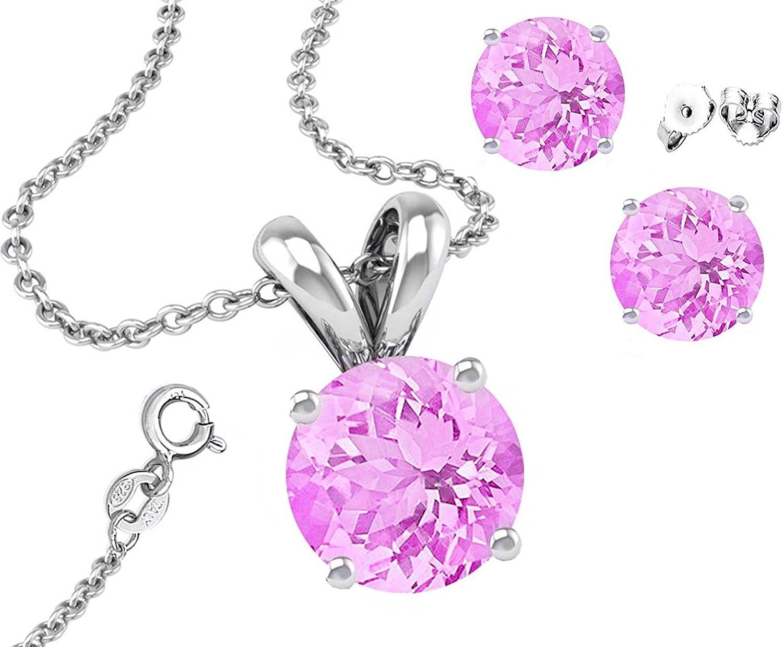 Glitzs Jewels 925 Sterling Silver Cubic Zirconia Necklace for Women Heart |