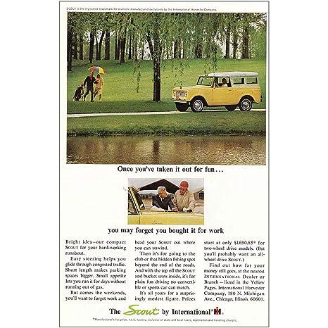 Amazon com: RelicPaper 1964 International Harvester Scout