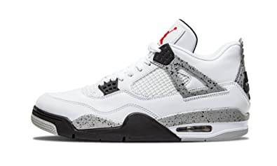 nike air jordan 4 retro og white/fire red/tech