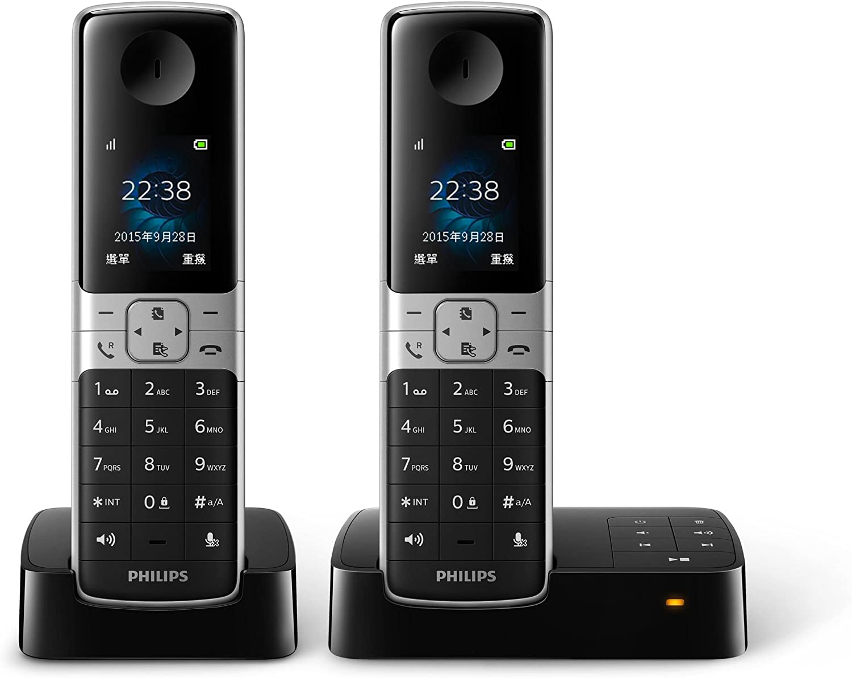 Philips D6352B/96 - Teléfono (Teléfono DECT, Terminal inalámbrico, Altavoz, 100 entradas, Identificador de Llamadas, Negro): Amazon.es: Electrónica