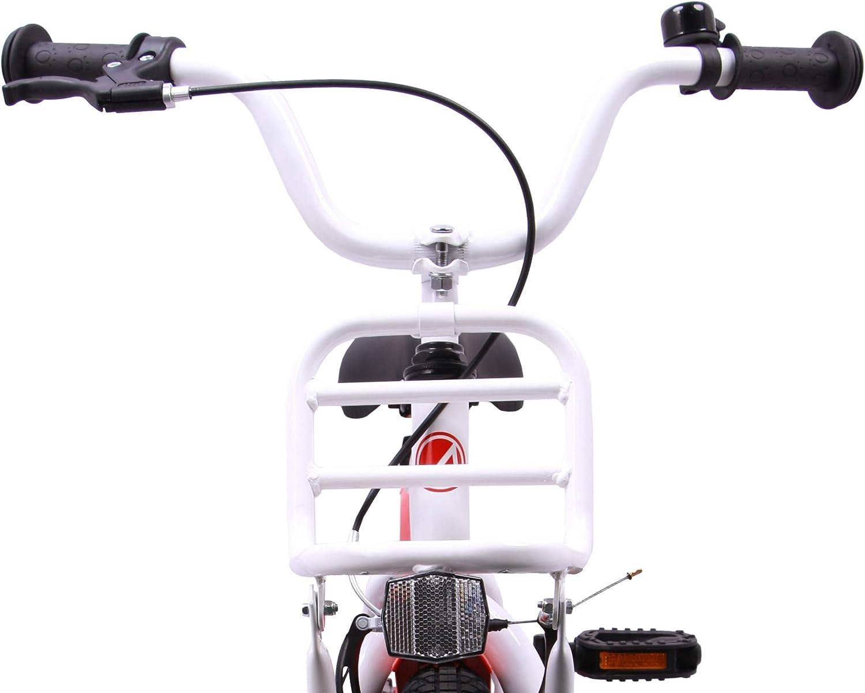 With training wheels and coaster brake 16 Inch AMIGO 2Cool Boys White Kids bike