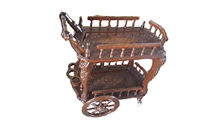 Tayyaba Enterprises Sheesham Wooden Serving Trolley