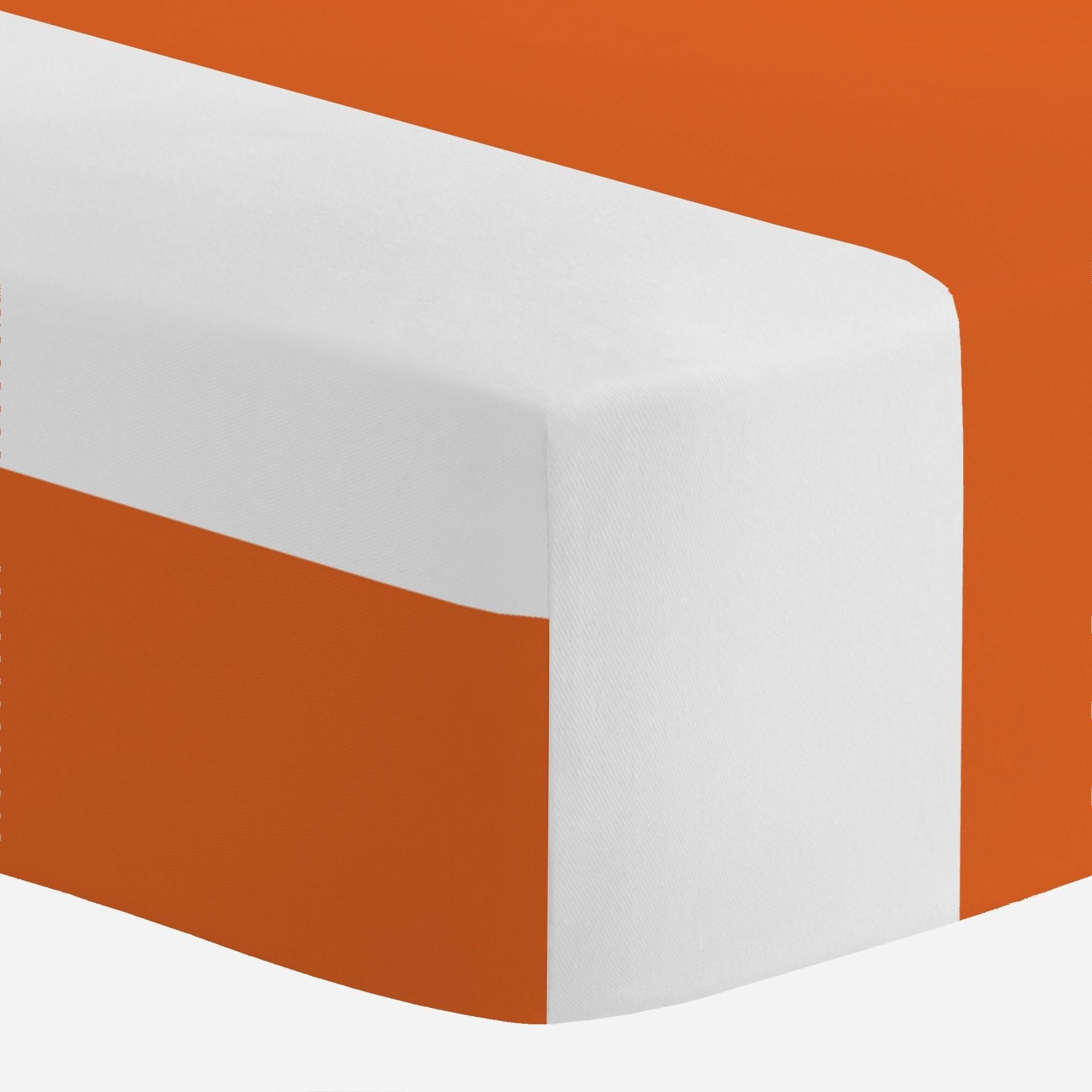 Carousel Designs College Orange Horizontal Stripe Crib Sheet - Organic 100% Cotton Fitted Crib Sheet - Made in the USA
