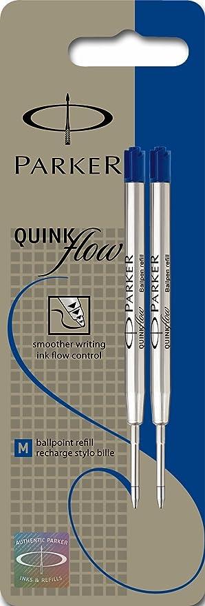 Parker Gel Ink Medium Point Ink Refills for Ball Point Pens, 2 Red Ink Pen