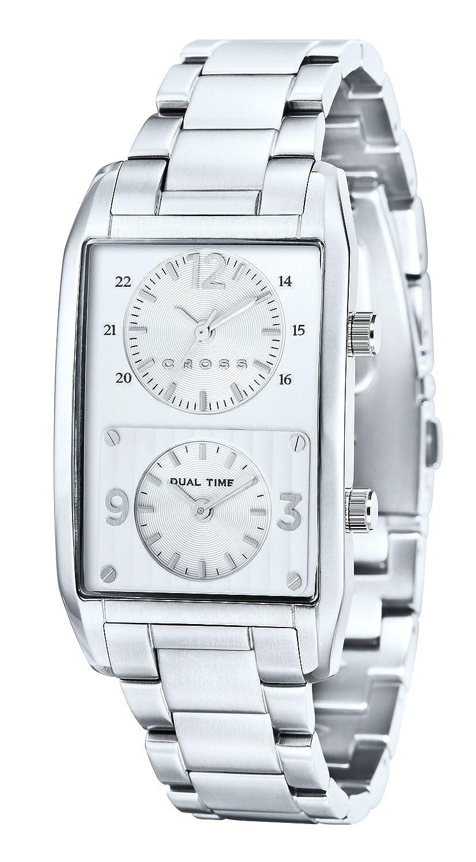 Cross Gotham Uhr Silber Weiß