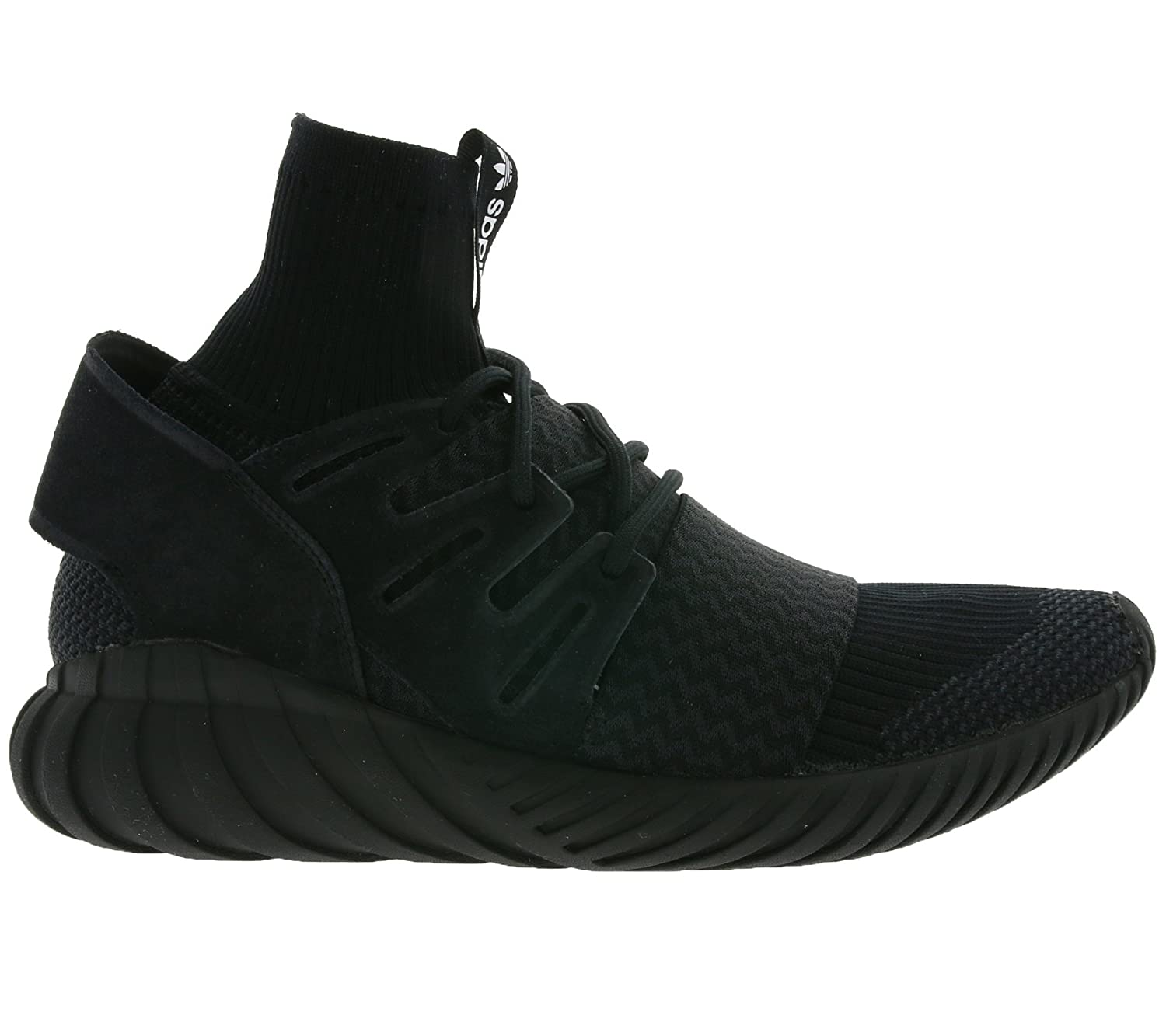 fe99699572b2 Adidas Tubular Doom PK Black Sneakers with collar and elastic band   Amazon.co.uk  Shoes   Bags