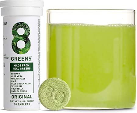 8Greens Immunity and Energy Effervescent Tablets - Packed with 8 Powerful Super Greens (1 Tube / 10 Tablets)