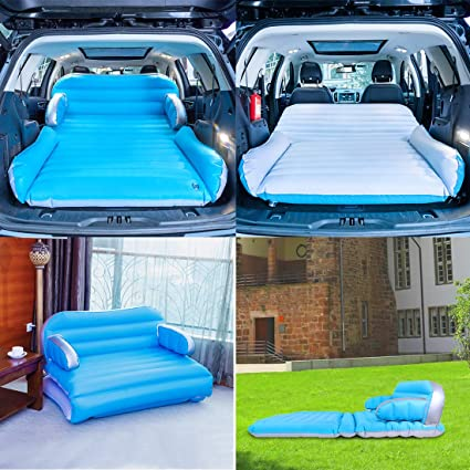 Beach Swimming Pool Ergocar Air Bed Inflatable Air Mattress Air Sofa Car Travel Camping Airbed Waterproof Leak-proof Air Lounger for Camping Travelling Hiking