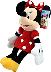 "Disney Plush Classic Minnie Mouse Red Polka Dot Dress 15"" Toy Doll"