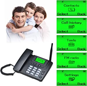 Desktop Telephone Wireless SIM Card GSM 900/1800MHz Classic Desk Phone Handset SMS Function for Business or Family