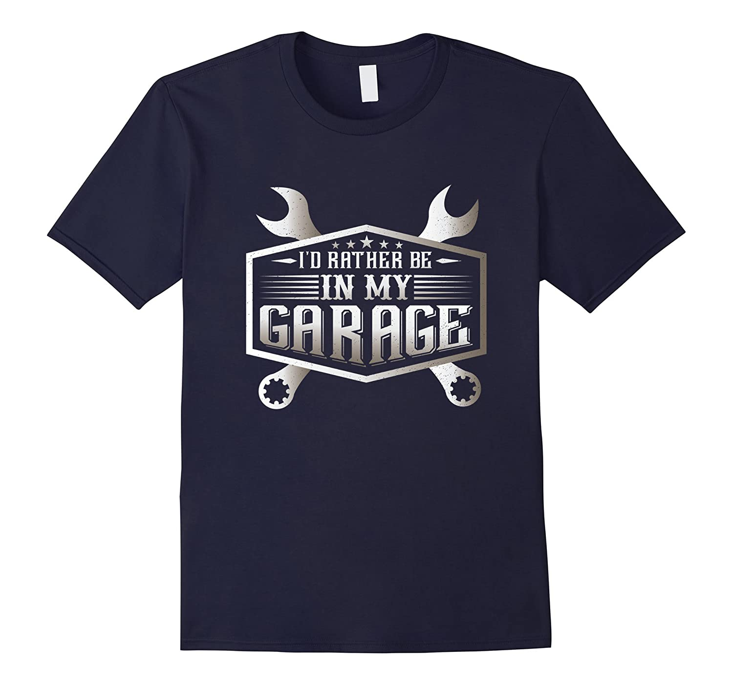 I'D RATHER BE IN MY GARAGE funny mechanic dad T-Shirt-Art