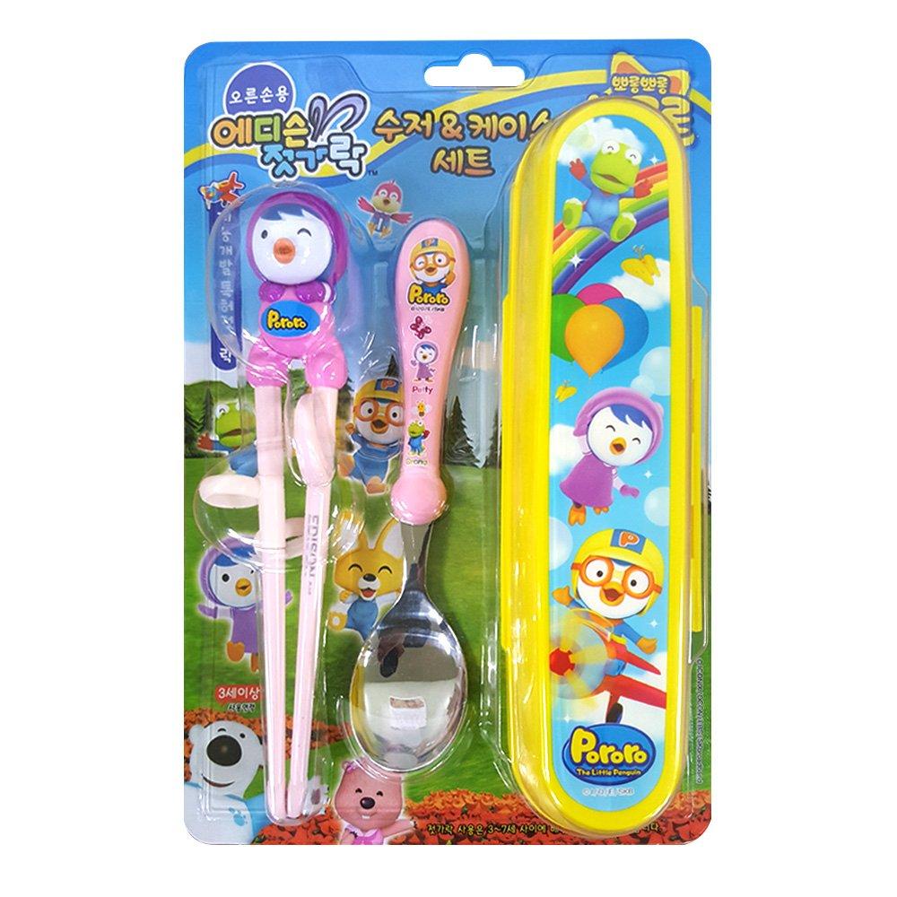 Pororo Edison Kid's Chopsticks & Spoon Set With Case (Pororo-Petty-set) by Edison   B00IXHL3XK