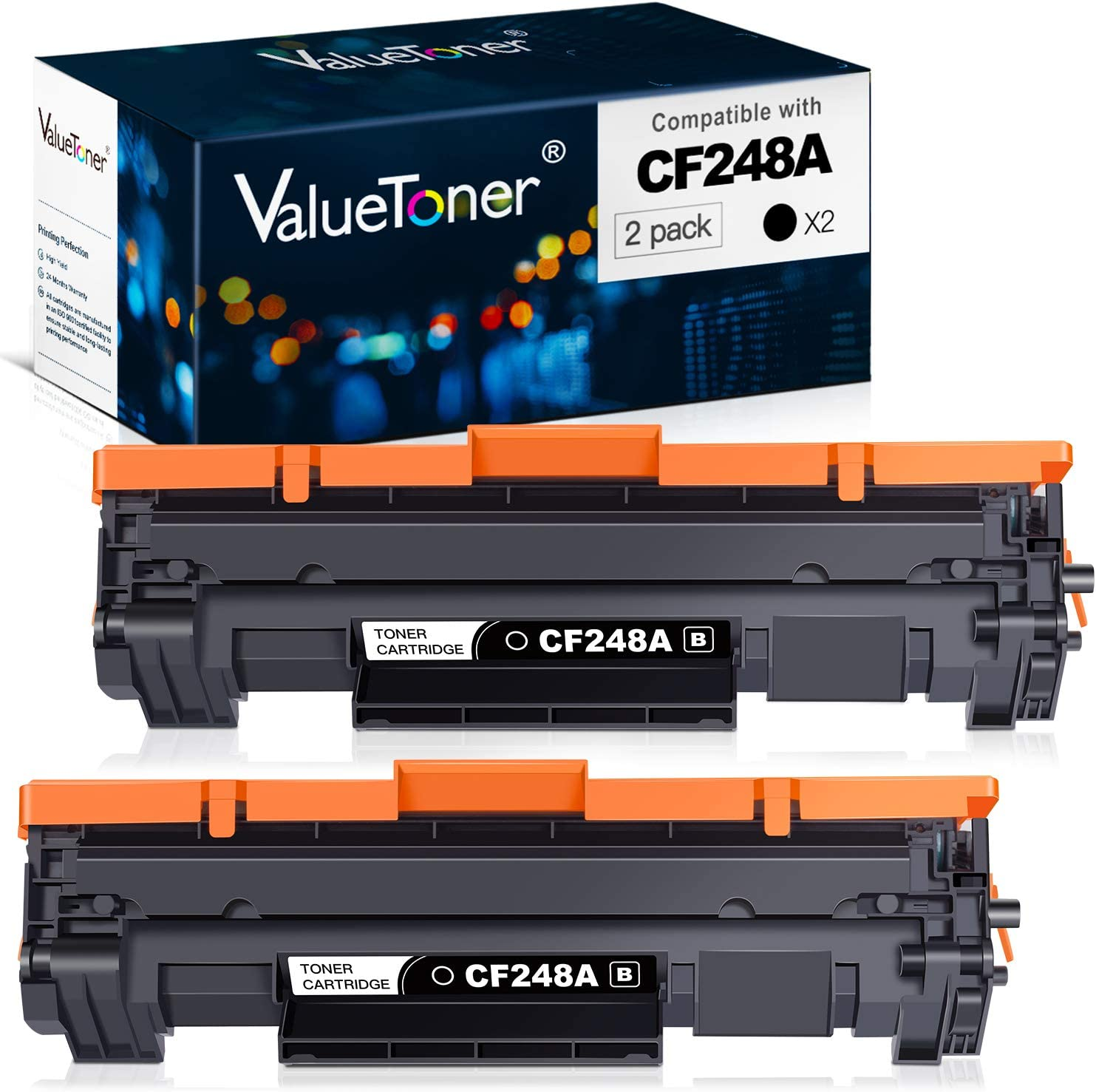 Valuetoner Compatible Toner Cartridge Replacement for HP 48A CF248A for Laserjet Pro M15w MFP M29w M30w M31w Laser Printer (Black, 2 Pack)