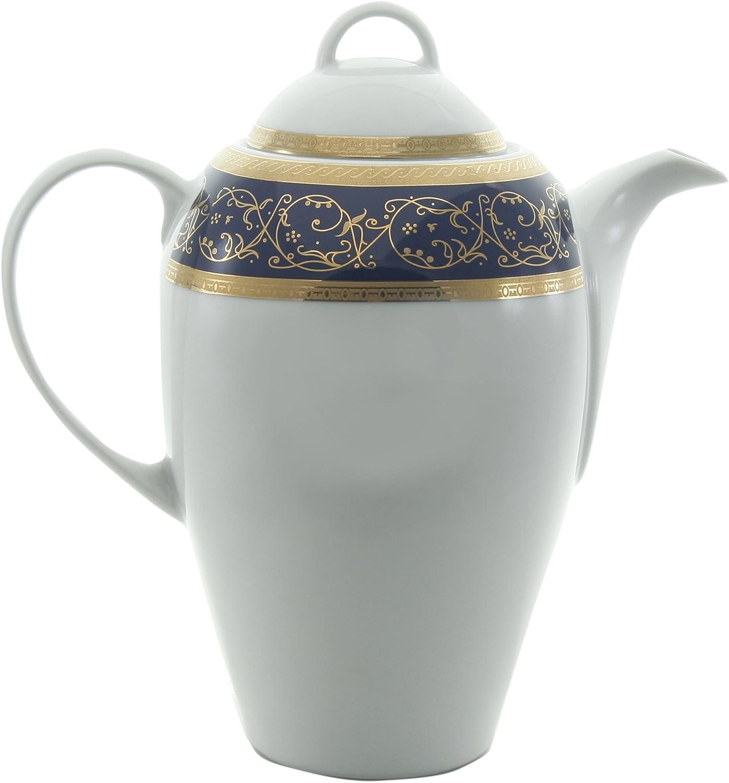 Bohemia Saphyr Greca Cafetera, Porcelana, Verde, 12x12x28 cm ...