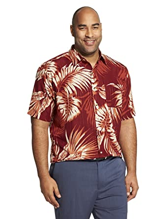 d54cf98d74a Van Heusen Men s Air Tropical Print Short Sleeve Button Down Shirt at  Amazon Men s Clothing store