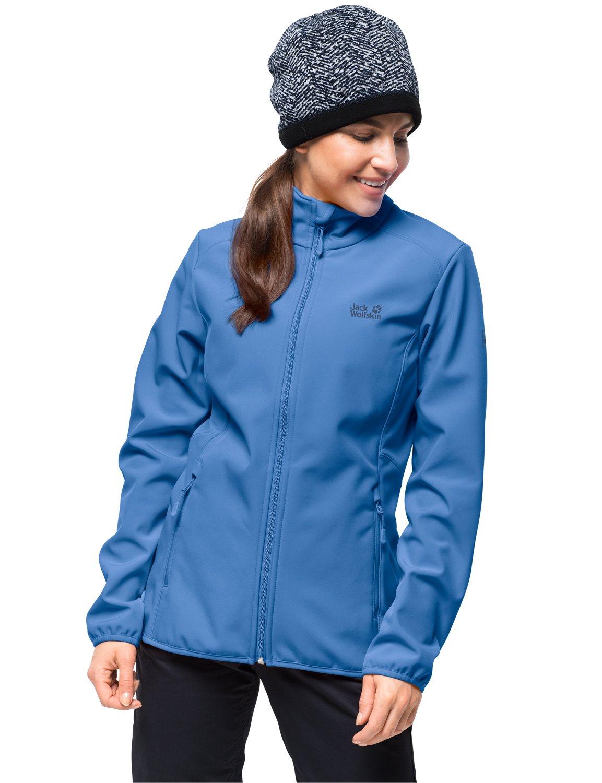 Zircon bleu L Jack Wolfskin Northern Pass Veste de randonnée Softshell Veste de plein air pour Femme Imperméable, Coupe-Vent
