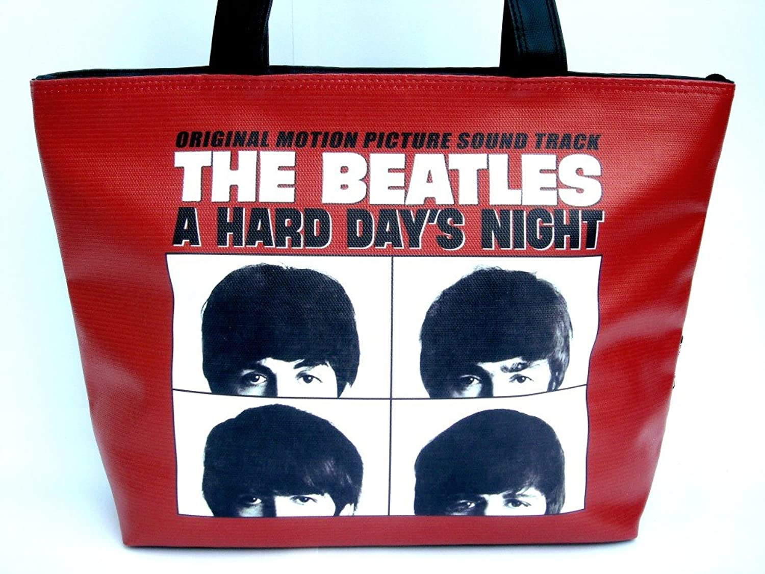 The Beatles A Hard Day's Night Rock Band Wide Tote Shoulder Bag Purse