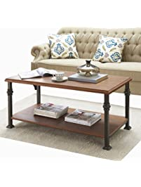 coffee table for living room. O K Furniture Rectangular Coffee Table  Modern with Lower Storage Shelf for Living Room Tables Amazon com