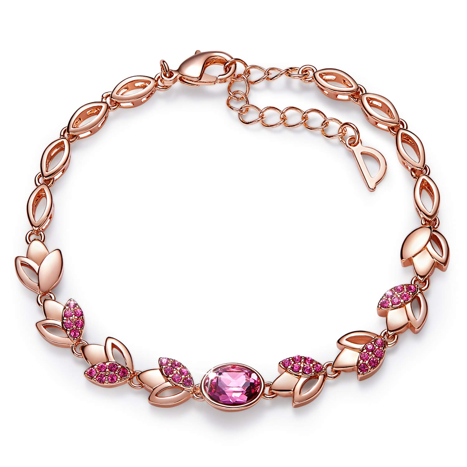 18k Rose Gold Plated Swarovski Bracelet