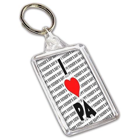 Llavero con texto en inglés «I Love Pa», regalo para el día ...