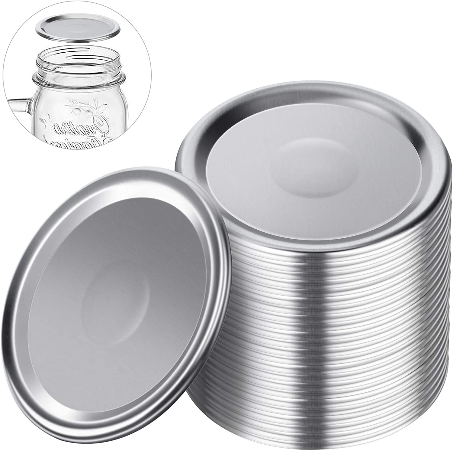 Mason jar lids regular mouth,Canning lids regular mouth.Canning flats regular mouth,Lids for Mason Jar Canning Lids (24 regular lids)
