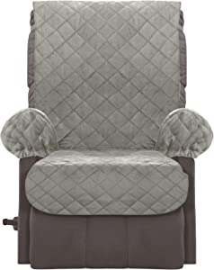 Zenna Home, Grey Protector: Waterproof Plush Recliner Furniture Cover