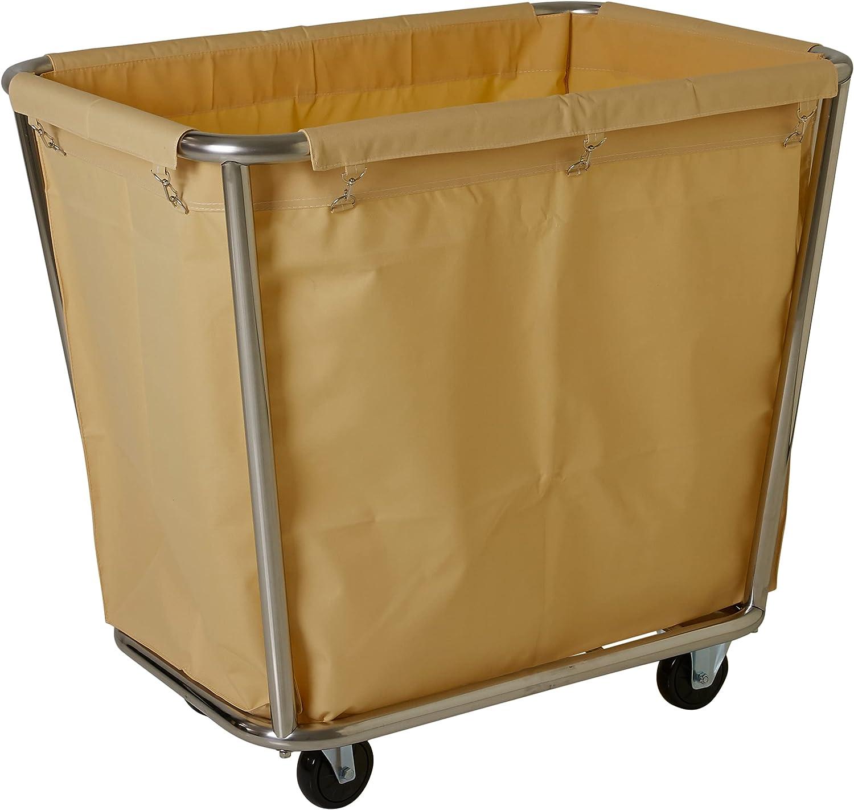 Saro AF 264 laundry trolley, stainless steel, cream, 90 cm x 65 cm x 85 cm