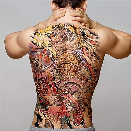 5Pcs-Big Black Tiger Tattoo Wolf Wolf Tattoo Impermeable Big Beast ...