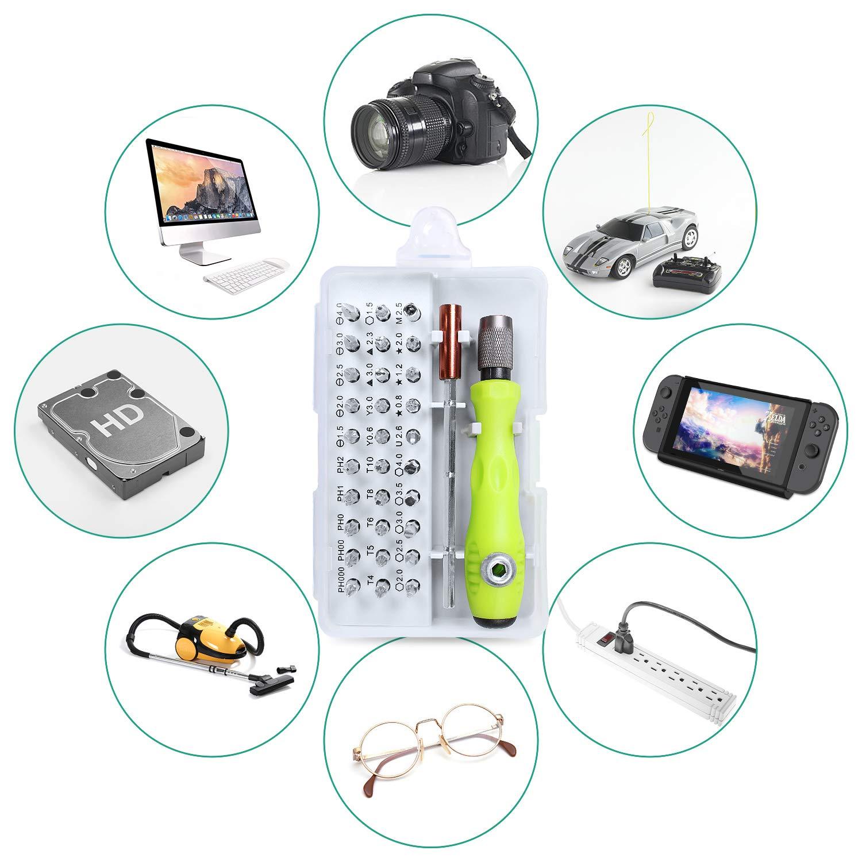 Gocheer 32 en 1 mini juego profesional destornilladores de precisión para electricistas kit de destornilladores magnéticos para Gafas, Smartphones, iPad, Tableta, Móvil, PC, Computadora Portátil