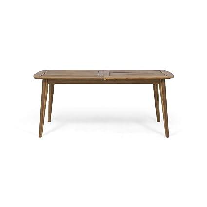 Amazon.com: Mesa de comedor ampliable de madera de acacia ...