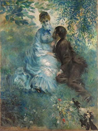 Amazon.com: The Museum Outlet - The Lovers, 1875 - Canvas ...