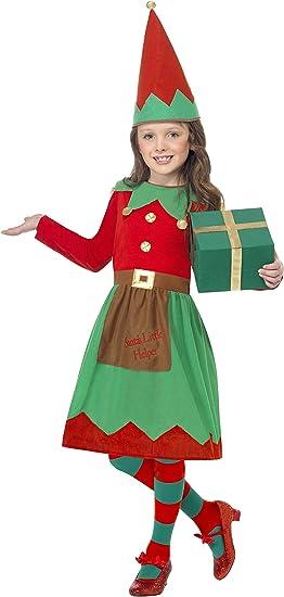 Smiffys-39104M Disfraz Infantil de ayudanta de Papá Noel, con ...