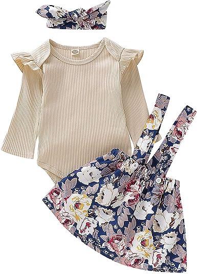 Conjunto de Ropa de niña de bebé Infantil para niños pequeños Tops de Manga Corta Falda de algodón Traje Conjunto 2 Piezas 0.5-4 años para el día de Pascua: Amazon.es: Ropa y