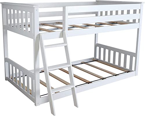 Max Lily Twin over Twin Low Bunk Bed