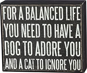 Primitives by Kathy Classic Box Sign, 6.5 x 5.5-Inches, for A Balanced Life You Need