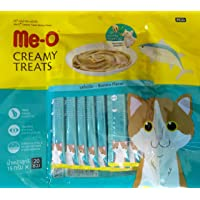 Me-O Creamy Cat Treat Bonito Flavour (Pack of 20 Sticks)