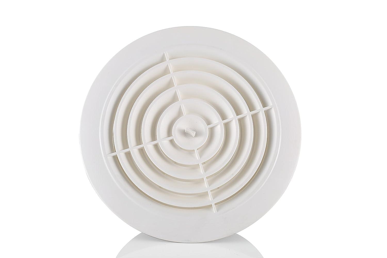 Hon&Guan ABS Rejilla de Ventilació n Ajustable para Bañ o Oficina Sala (ø 75mm)