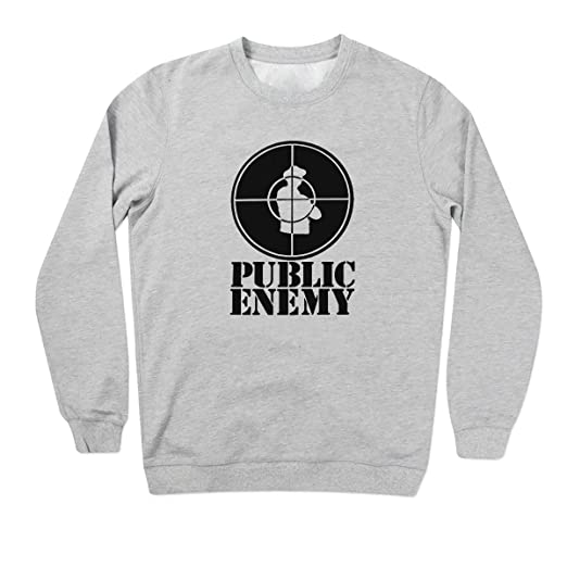 FRIENDLY BEES Public Enemy Retro Vintage Grey Unisex Sweater 3X Large