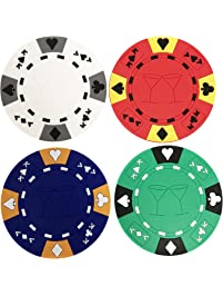 Superior Poker Chip Coasters Set Of Four By YH Poker