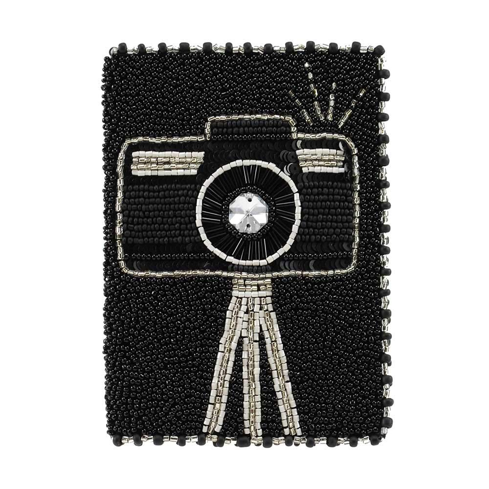 MARY FRANCES Beaded Passport Holder/Wallet (Smile) by MARY FRANCES