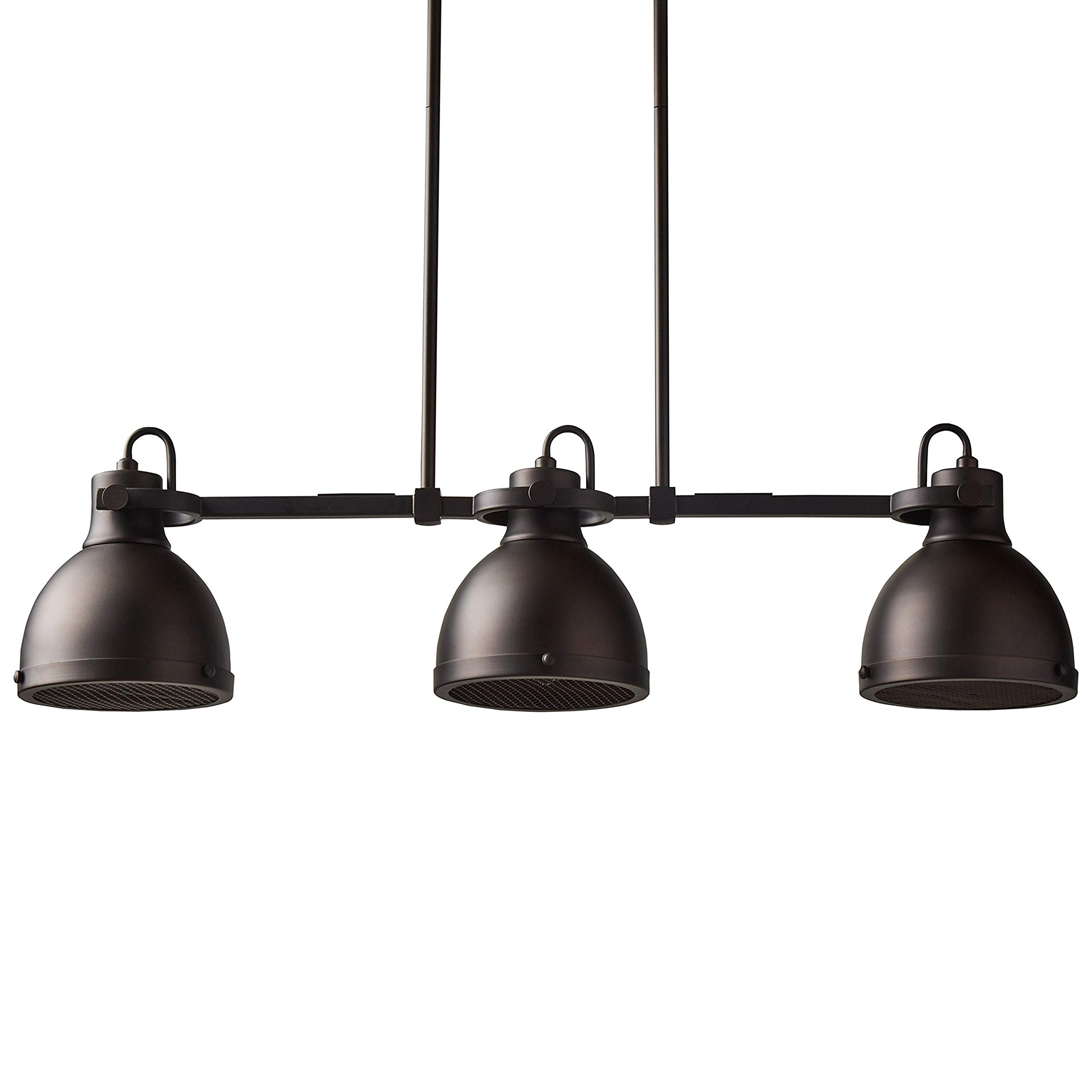 Stone & Beam Emmons Triple Pendant With Bulbs, 8.25''-56.25''H, Oil-Rubbed Bronze