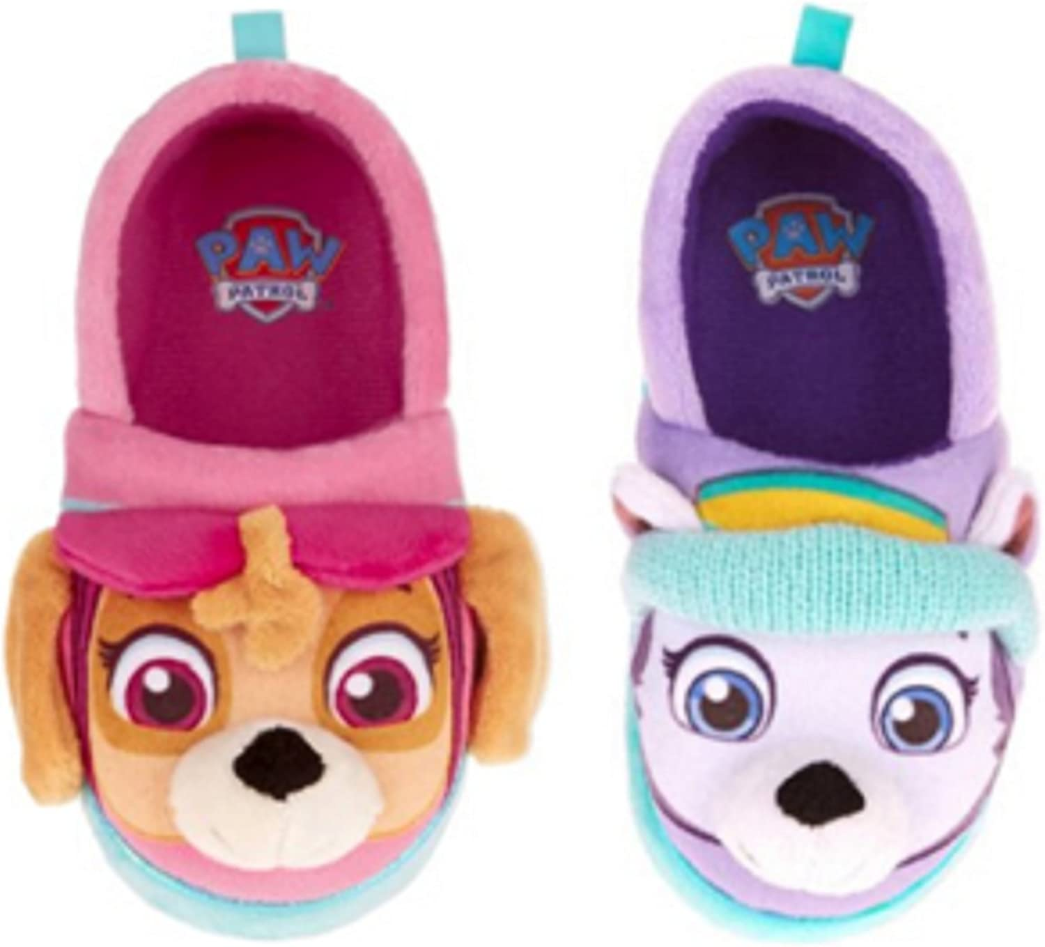 9//10 Paw Patrol Slippers Baby Toddler Girl Skye Everest Size Large