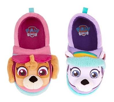 f9e12f7630d8 Nickelodeon Paw Patrol Toddler Girls Slippers Skye Everest (Small   5-6)