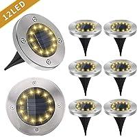 8-Pack Pearlstar Outdoor Solar Led Ground Lights (White)
