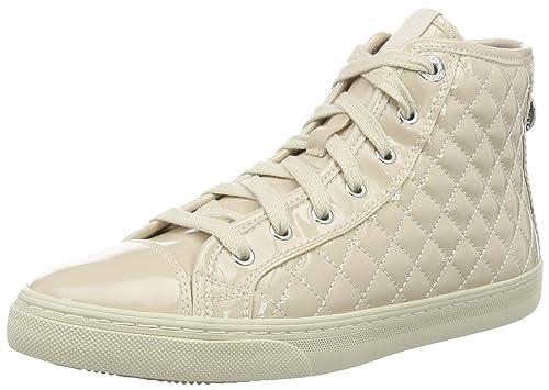 Geox D Giyo, Zapatillas Altas para Mujer, Beige (Skin C8182), 35 EU: Amazon.es: Zapatos y complementos