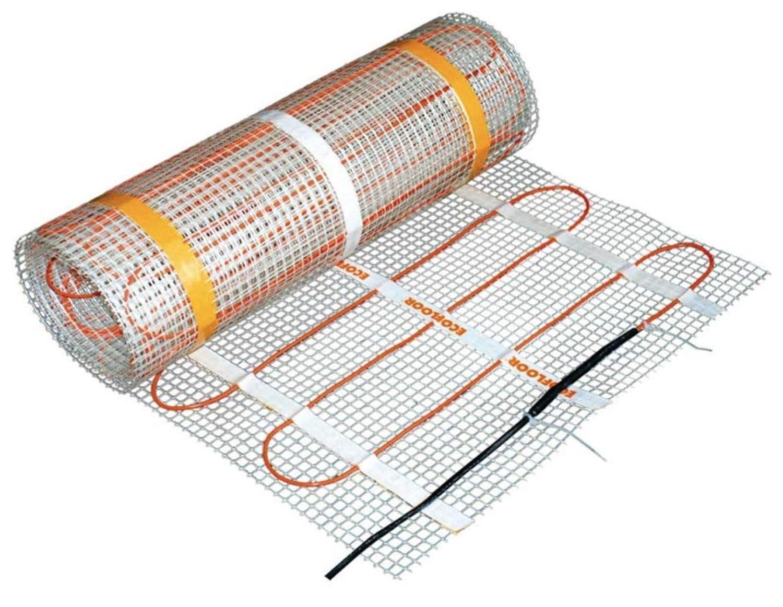 ECOFLOOR/® Fu/ßbodenheizung elektrisch ✓160 Watt//m/² ✓ Elektro Fu/ßboden-Heizmatte f/ür Fliesenboden /& Steinboden✓ elektrische Fu/ßbodenheizung 1m/² = 0.5m x 2m Breite x L/änge