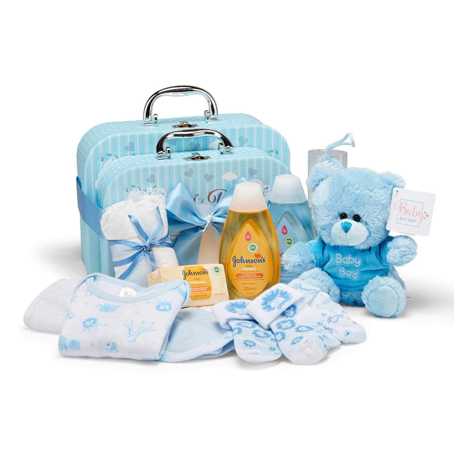 Baby Newborn 5 Piece Boxed Clothing Gift Set Boys Girls Pink Blue Sets New