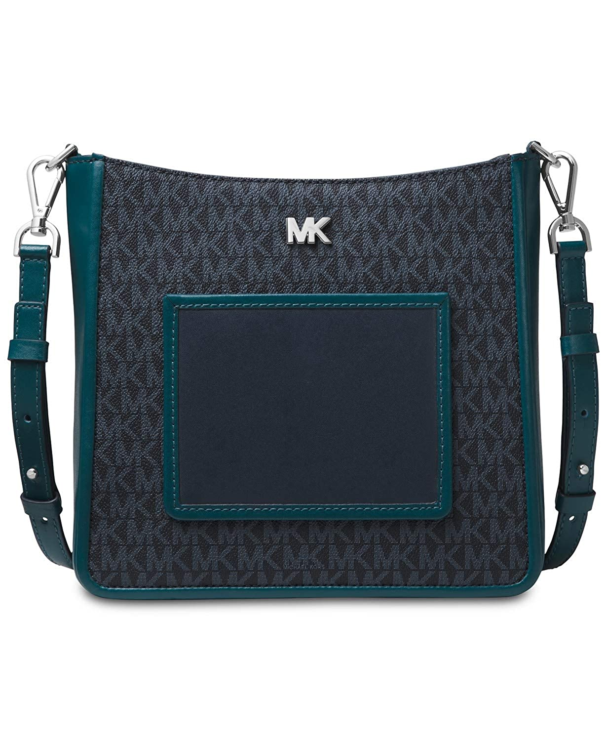5b2fdec6ca66e MICHAEL Michael Kors Gloria Pocket Swing Pack Crossbody (Admiral Luxe  Teal)  Handbags  Amazon.com